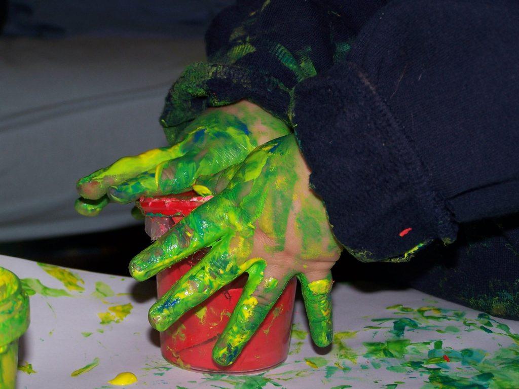 finger painting fine motor skills