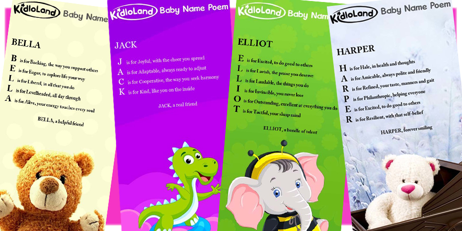 Kidloland Create Your Own Baby Name Poem