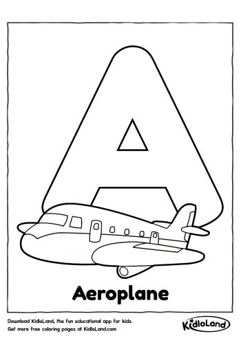 alphabet a coloring page - A Coloring Pages