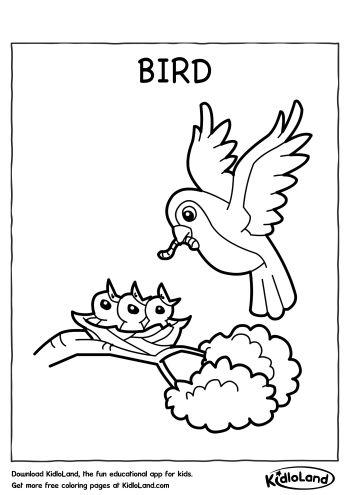 bird coloring page free printables for your kids kidloland. Black Bedroom Furniture Sets. Home Design Ideas