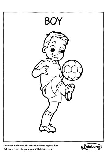 Boy Coloring Page | Free Printables For Your Kids - KidloLand