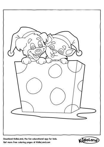 gift coloring page