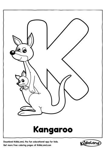 Alphabet K Coloring Page