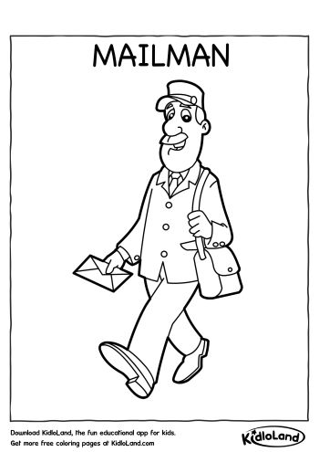 mailman coloring pages - photo#8