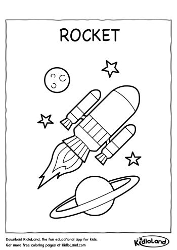 rocket coloring page
