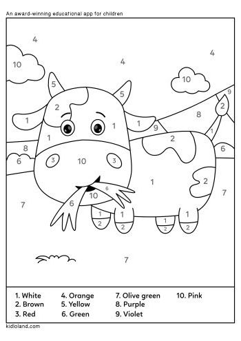 Download Free Color By Number 33 And Educational Activity
