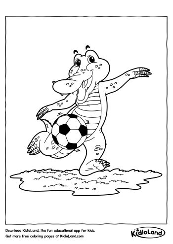Wild Crocodile Coloring Page - Mitraland   495x350