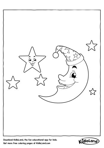 Free Moon And Stars Coloring Pages Printable, Download Free Clip ... | 495x350