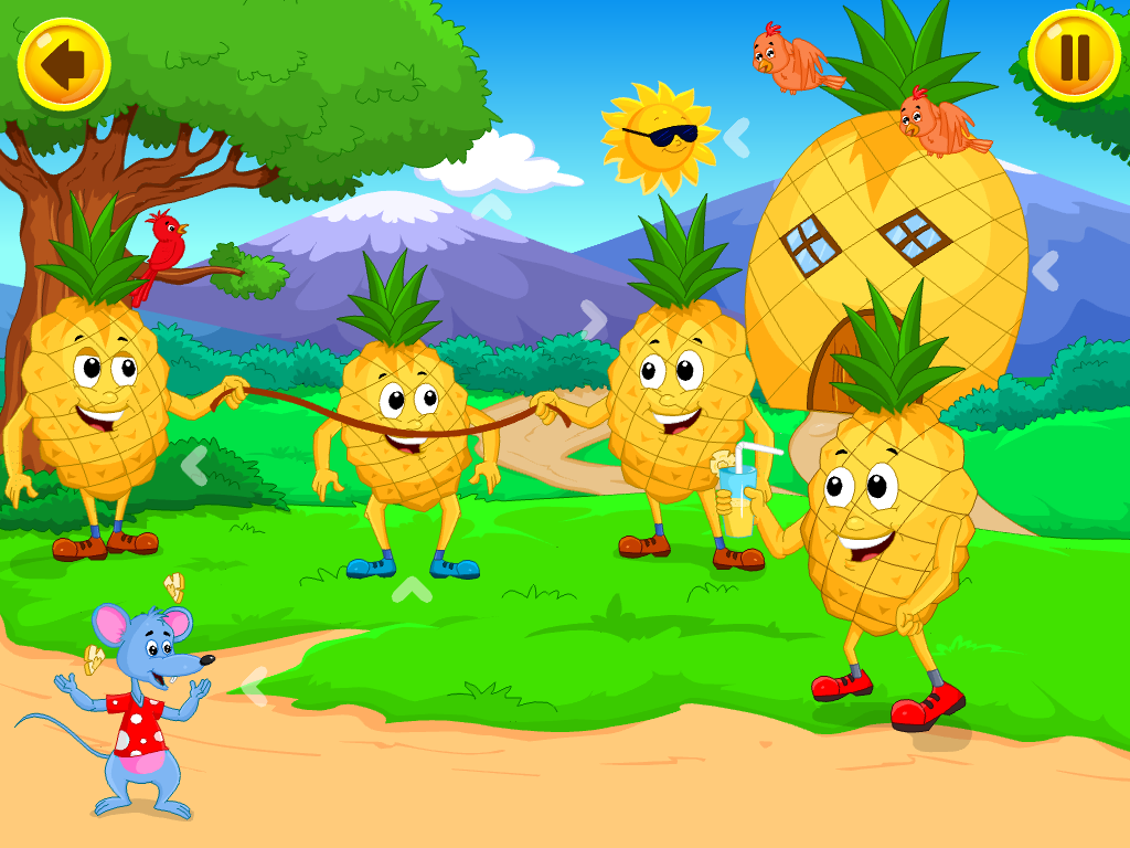pineapple and fruit games