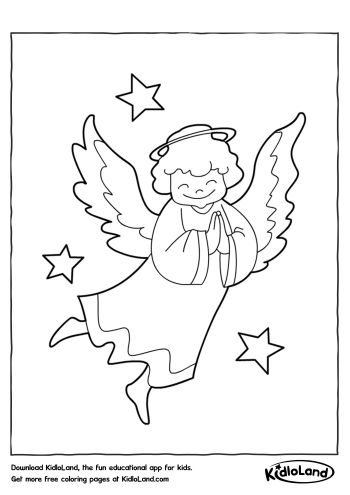 angel coloring page free printables for your kids kidloland
