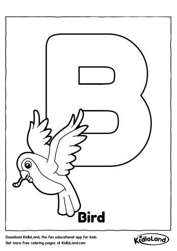 Alphabet Coloring B | Free Printables For Your Kids - KidloLand