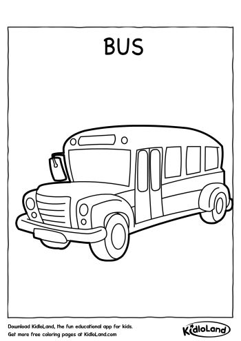 Bus Coloring Page   Free Printables For Your Kids - KidloLand