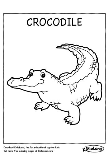 Crocodile Coloring Page | Free Printables For Your Kids - KidloLand