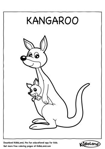 Kangaroo Coloring Page Free Printables For Your Kids Kidloland