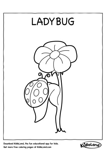 Ladybug Coloring Page | Free Printables For Your Kids - KidloLand