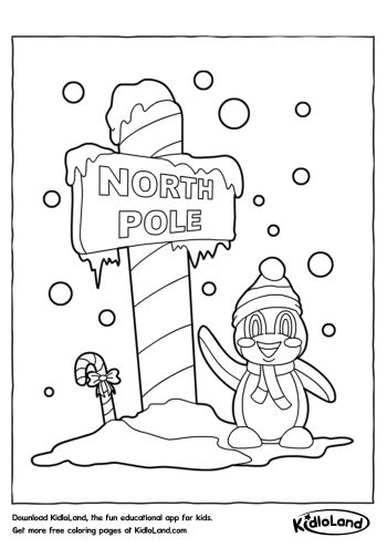 North Pole Coloring Page | Free Printables For Your Kids - KidloLand