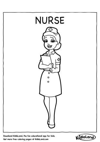 Download Free Nurse Coloring Page And Educational Activity
