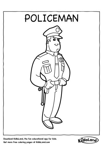 policeman coloring book pages - photo#14