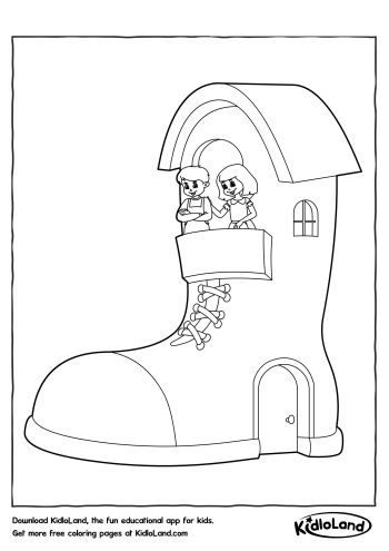 Shoe House Coloring Page | Free Printables For Your Kids - KidloLand
