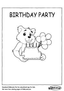 Birthday party Coloring Page