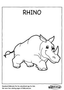 Rhino Coloring Page