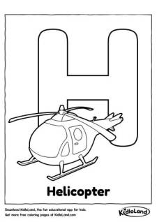 Alphabet H Coloring Page