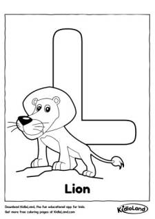 Alphabet L Coloring Page