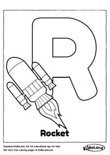 Alphabet R Coloring Page