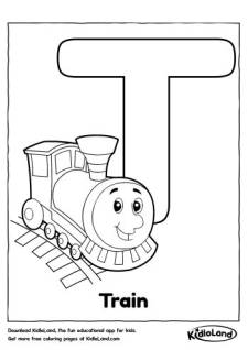 Alphabet T Coloring Page
