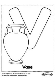 Alphabet V Coloring Page