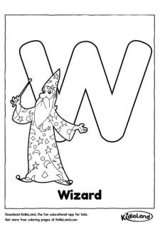 Alphabet W Coloring Page