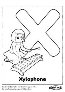 Alphabet X Coloring Page