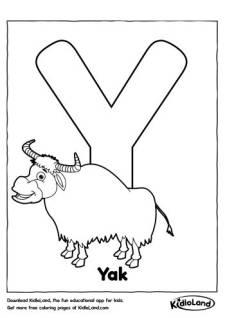 Alphabet Y Coloring Page