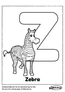 Alphabet Z Coloring Page