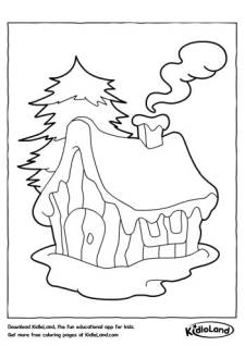 Home with a Chimney Coloring Page