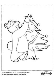Decor Christmas Tree Coloring Page