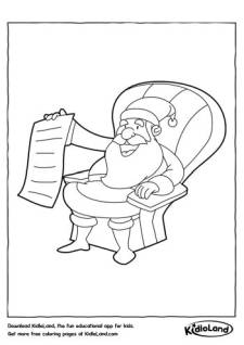 Santa Claus on a chair Coloring Page