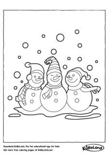 Snowmen Coloring Page
