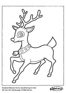 Reindeer 2 Coloring Page