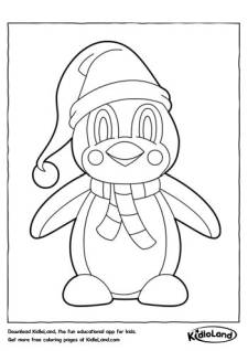 Penguin in a Hat Coloring Page