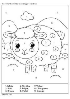 Color By Number Sheep