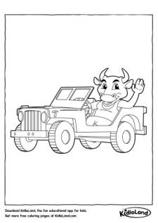 Bull Driver Coloring Page