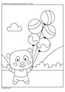 Teddy Coloring Page