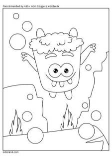 Little Monster Coloring Page
