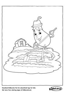 Cleaning Eggplant Coloring Page