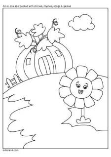 Pumpkin House Coloring Page