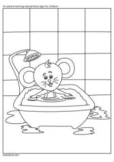 Baby Rat Coloring Page
