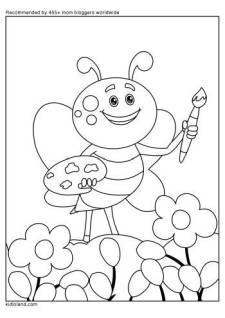 Butterfly Painting Coloring Page