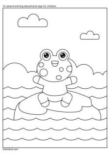 Frog Coloring Page
