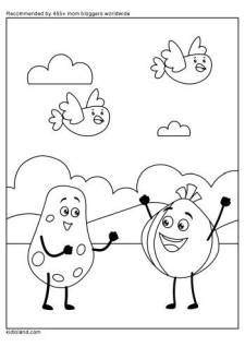 Fruits Dancing Coloring Page